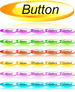 Web menu buttons set. vectorのイラスト素材 [FYI03079397]