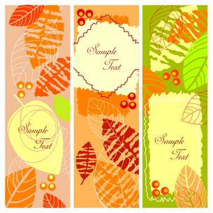Autumn bannersのイラスト素材 [FYI03079592]