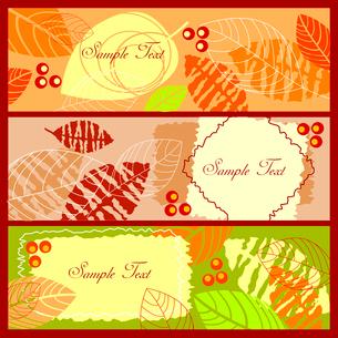 Autumn bannersのイラスト素材 [FYI03079594]