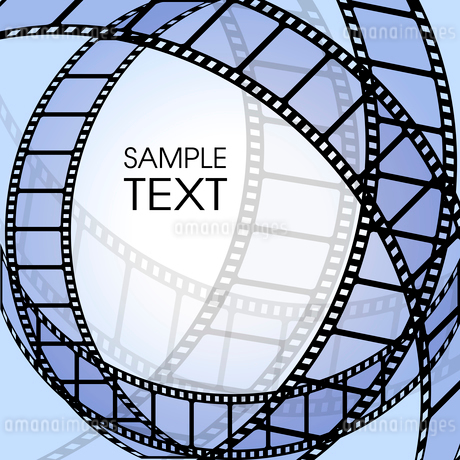 Abstract background with a film stripのイラスト素材 [FYI03079675]
