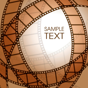 Abstract background with a film stripのイラスト素材 [FYI03079677]