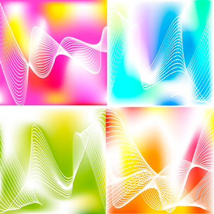 Set of 4 abstract backgroundsのイラスト素材 [FYI03079688]