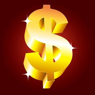Golden dollar symbol. vectorのイラスト素材 [FYI03079706]