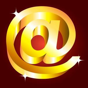 Golden email symbol. vectorのイラスト素材 [FYI03079712]