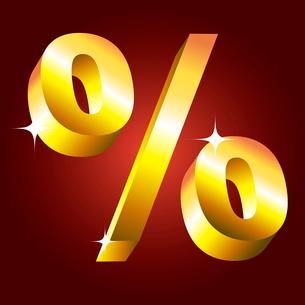Golden percent symbol. vectorのイラスト素材 [FYI03079716]