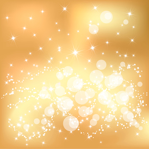 Abstract golden Christmas background with white snowflakesのイラスト素材 [FYI03079767]