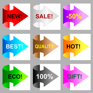 Promo labelsのイラスト素材 [FYI03079769]