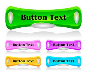 Set of shiny plastic web menu buttonsのイラスト素材 [FYI03079772]