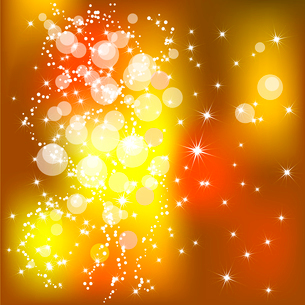 Abstract golden Christmas background with white snowflakesのイラスト素材 [FYI03079773]