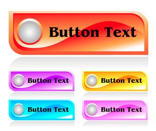 Set of shiny plastic web menu buttonsのイラスト素材 [FYI03079782]