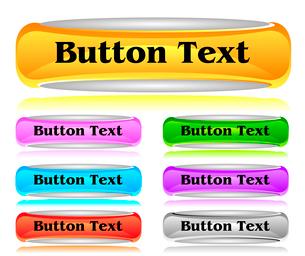 Set of shiny web menu buttonsのイラスト素材 [FYI03079783]
