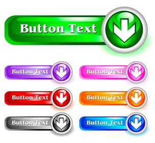 Set of shiny web menu buttonsのイラスト素材 [FYI03079785]