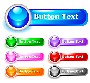 Set of shiny web menu buttonsのイラスト素材 [FYI03079786]