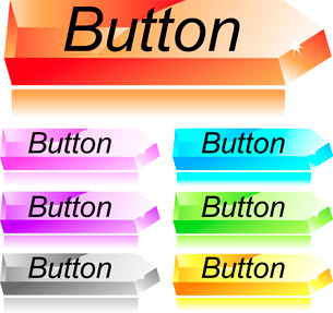Web menu glass buttons setのイラスト素材 [FYI03079916]