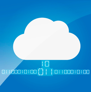 Cloud computing. The concept of storing and transmitting information, media content.のイラスト素材 [FYI03080012]