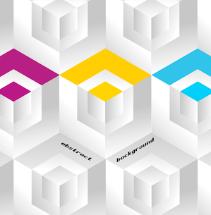 Abstract geometric background with isometric cubes. Book coverのイラスト素材 [FYI03080104]