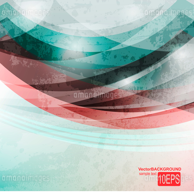 Abstract Vector Waveのイラスト素材 [FYI03080122]