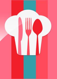 restaurant menu retro posterのイラスト素材 [FYI03080150]