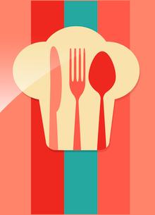 restaurant menu retro posterのイラスト素材 [FYI03080151]