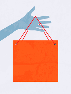Hand with shopping bagのイラスト素材 [FYI03080195]