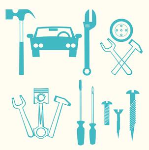 car repair iconsのイラスト素材 [FYI03080284]