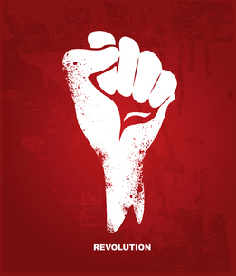Clenched fist hand.  Revolution conceptのイラスト素材 [FYI03080319]