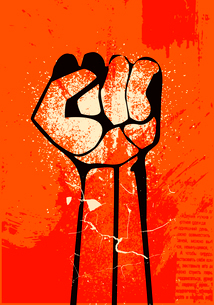 clenched fist hand.  Revolutionのイラスト素材 [FYI03080326]