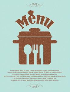 restaurant menu retro posterのイラスト素材 [FYI03080327]