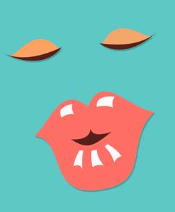 woman face retro illustrationのイラスト素材 [FYI03080328]