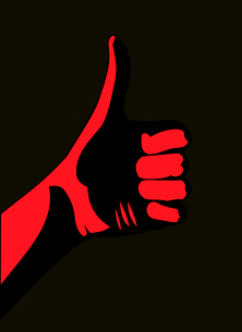 Thumb up. Redのイラスト素材 [FYI03080331]