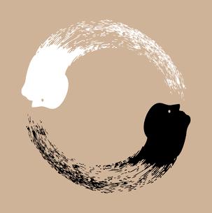 Taichi yin and yangのイラスト素材 [FYI03080376]