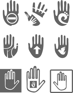 Icons  Handsのイラスト素材 [FYI03080388]