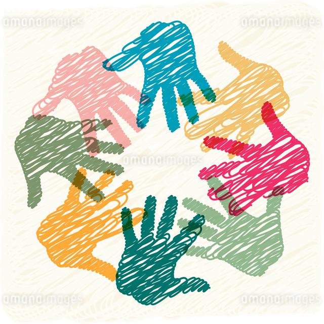 Teamwork handsのイラスト素材 [FYI03080400]