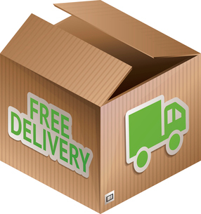 Vector box with free shipping icon - internet shopping iconのイラスト素材 [FYI03080503]