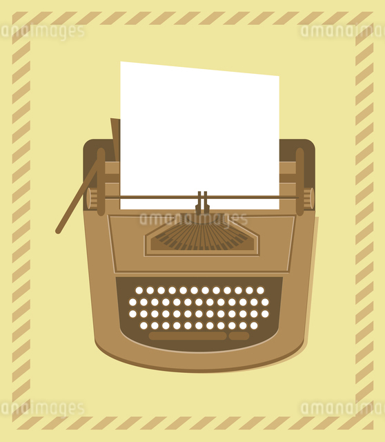 typewriter in retro style - vector cardのイラスト素材 [FYI03080531]