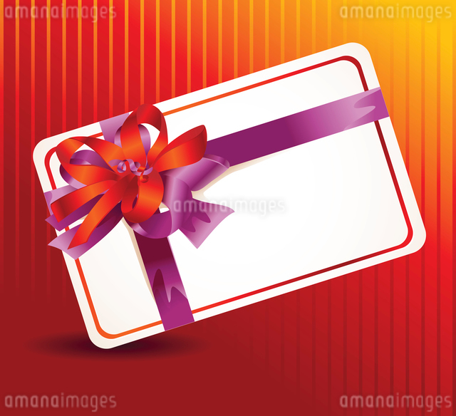 beautiful card with ribbons and copy space for text - vector illustrationのイラスト素材 [FYI03080549]