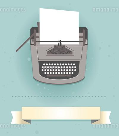 typewriter in retro style - vector cardのイラスト素材 [FYI03080706]