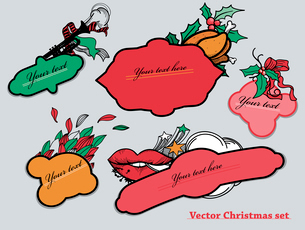 vector set of colorful labels for holidaysのイラスト素材 [FYI03080806]