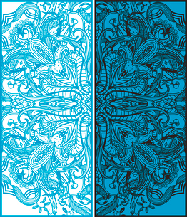 two vector abstract cards with oriental patternのイラスト素材 [FYI03081063]