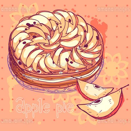 vector illustration of an apple pieのイラスト素材 [FYI03081259]