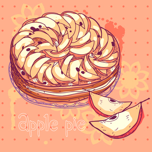 vector illustration of an apple pieのイラスト素材 [FYI03081259]