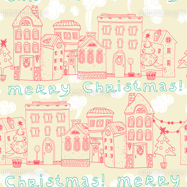 Christmas vector seamless patternのイラスト素材 [FYI03081378]