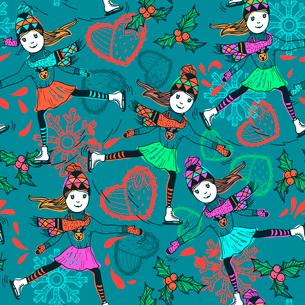 Christmas vector seamless patternのイラスト素材 [FYI03081402]
