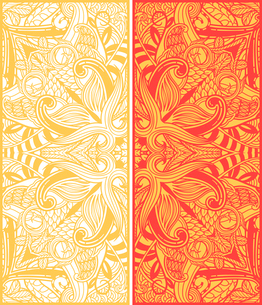 two vector cards with oriental ornamentsのイラスト素材 [FYI03081673]