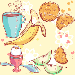 vector illustration of a healthy breakfast foodのイラスト素材 [FYI03081828]