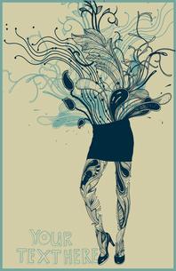 vector illustration of fantasy floral girlのイラスト素材 [FYI03081929]