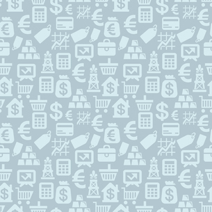 Vector seamless pattern with finance iconsのイラスト素材 [FYI03082741]