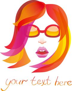 beauty logo - pretty womanのイラスト素材 [FYI03082788]