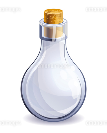 empty glass bottleのイラスト素材 [FYI03082801]
