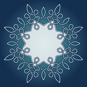 Vector decorative frame with celtic ornamental design elementのイラスト素材 [FYI03082819]